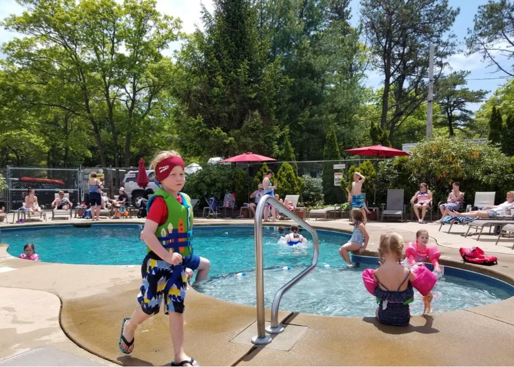 fun at the upper pool